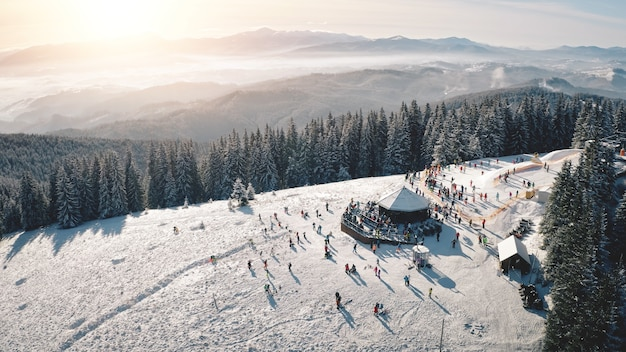 Winter snow resort bij sun mountain antenne