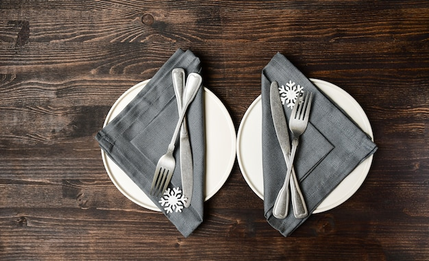 Winter tabel instelling kerst diner lunch