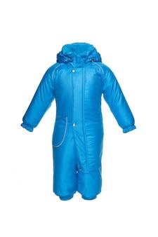 Winterkleding voor kinderen om te wandelen met capuchon blauwe elektrische kleur