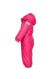 Winterkleding voor kinderen om te wandelen met kap roze kleur