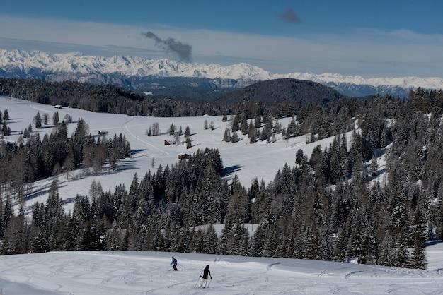 Winterlandschap in de dolomieten