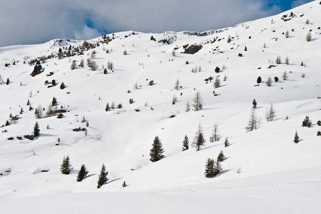 Winterlandschap in de dolomiti