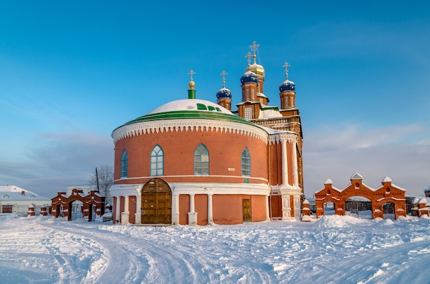 Winterlandschap op het gebied van rusland