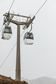 Winterseizoen van kabelbanen