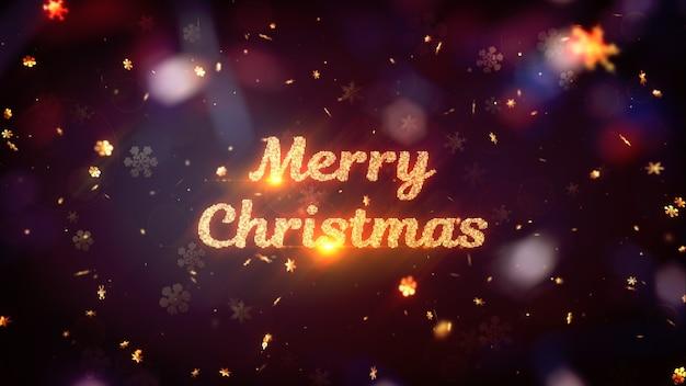 Wintervakantie 3d-rendering thema. kerststemming. abstracte positieve en feestelijke achtergrond.