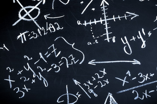 Wiskunde op bord