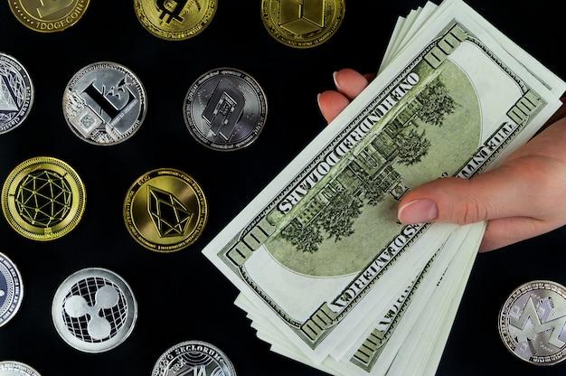 Wissel cryptocurrency om voor echt geld tegen de huidige koers