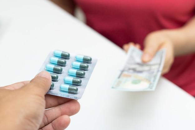 Wissel verkoopgeneesmiddelengeld in drogisterij in