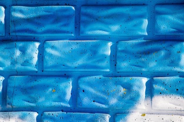 Wit-blauw baksteen textuur voor design