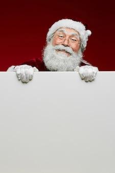 Wit bord met de kerstman