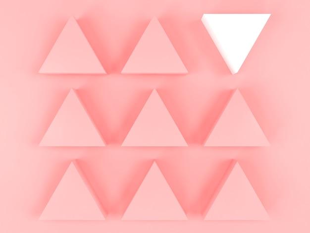 Wit contrast geometrische vorm anders op roze pastel achtergrond