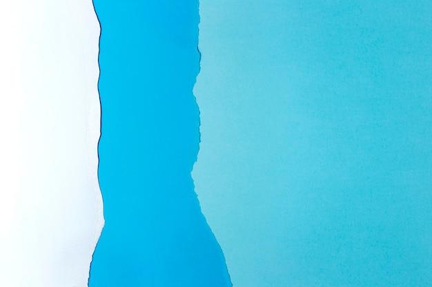 Wit en blauw papier achtergrondontwerp