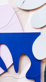 Wit en blauw papier uitsparingen