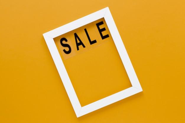 Wit frame met verkooptekst