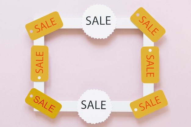 Wit frame met zwarte vrijdag-verkoopmarkeringen