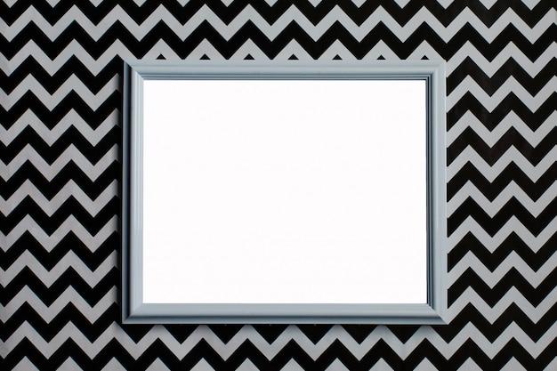 Wit frame op een creatieve witte en zwarte achtergrond