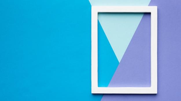 Wit frame op kleurrijke achtergrond