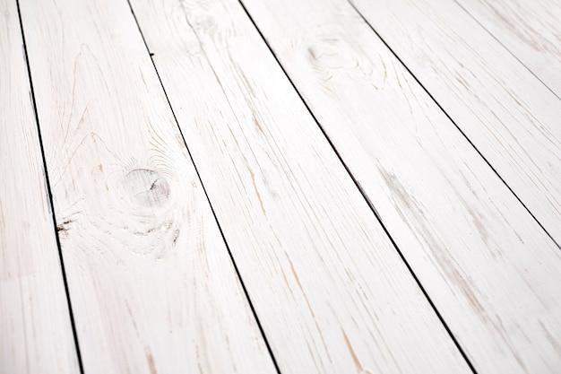 Wit geschilderde houten oppervlaktedetails