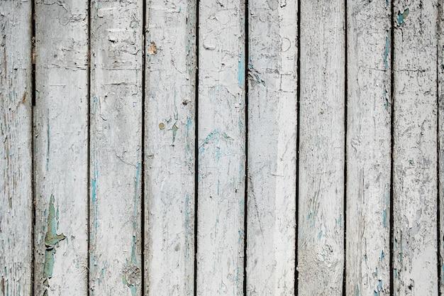Wit geschilderde houtstructuur van houten muur voor achtergrond en textuur.