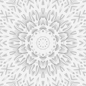 Wit gesneden papier gesneden achtergrond boekomslag. kromme lijnen en golven laag. 3d render poster sjabloon patroon illustratie
