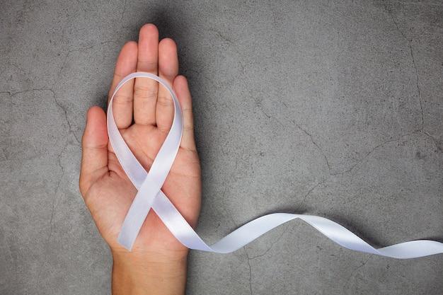 Wit lintsymbool van vrede internationale dag van geweldloosheid.