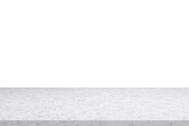 Wit marmeren stenen tafelblad geïsoleerd op een witte achtergrond voor productweergave