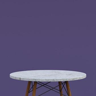 Wit marmeren tafel of productstandaard voor displayproduct