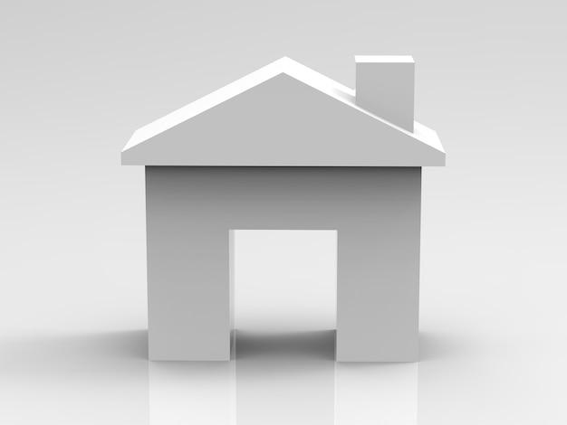 Wit mock-up huis of huismodel