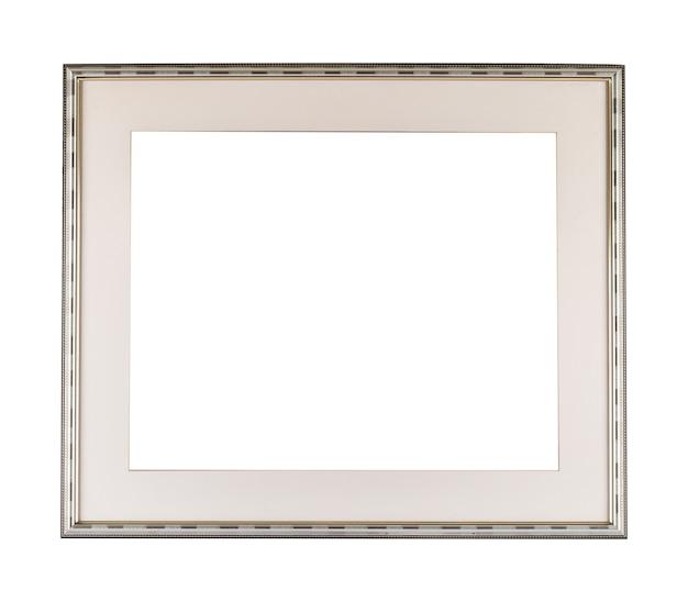 Wit modern frame op wit oppervlak