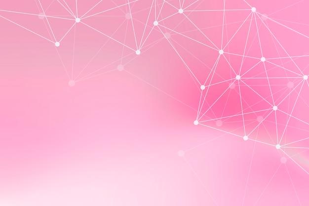 Wit netwerkpatroon op een taffy roze backgorund