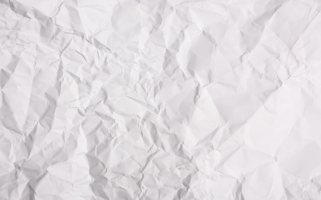 Wit papier verfrommeld achtergrond