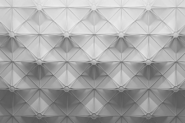 Wit patroon met grote herhalende tegels en draadframe bovenaan met vierkant stervormpatroon