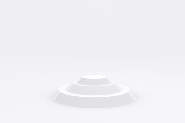 Wit podium product display platform 3d render premium foto