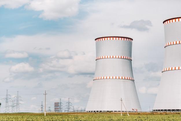 Wit-russische kerncentrale in het district ostrovets