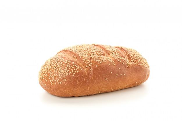 Wit tarwebrood geïsoleerd. bakkerijproducten