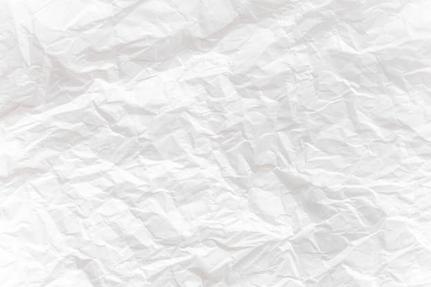Wit verfrommeld papier close-up textuur achtergrond