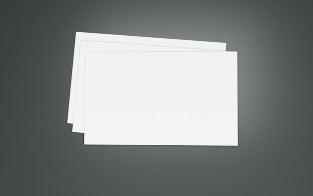 Witboek ruimte. 3d illustratie
