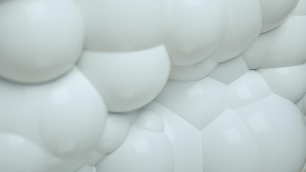 Witte abstracte 3d bubble ballen achtergrond