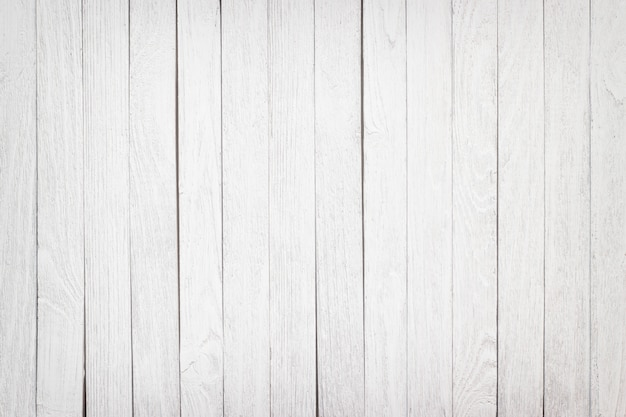 Witte achtergrond houten tafel oppervlak, textuur planken close-up