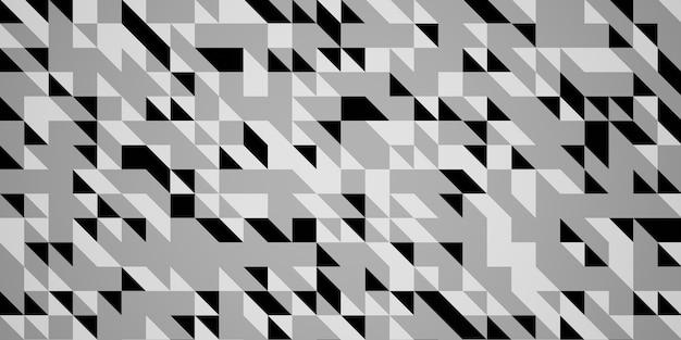 Witte achtergrond met driehoek patroon monotone driehoek patroon achtergrond 3d illustratie