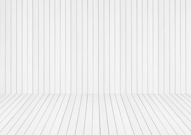 Witte achtergrond van houten planken vor product