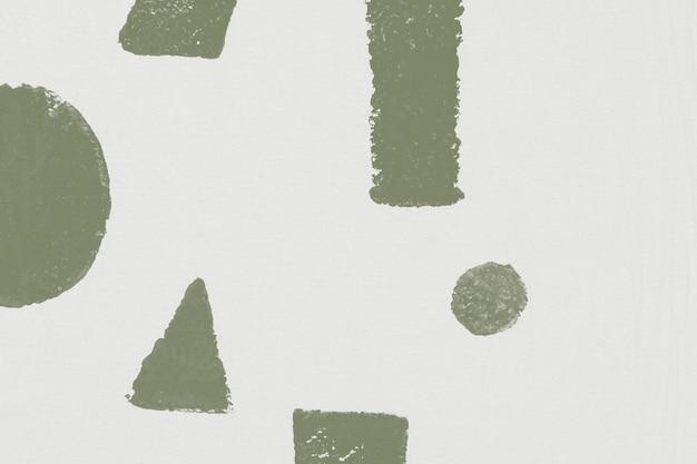 Witte achtergrondblokafdrukken met geometrisch patroon