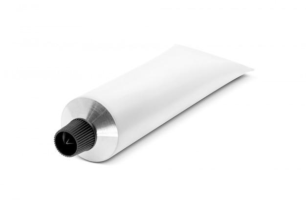 Witte aluminium tandpasta of cosmetische crème tube