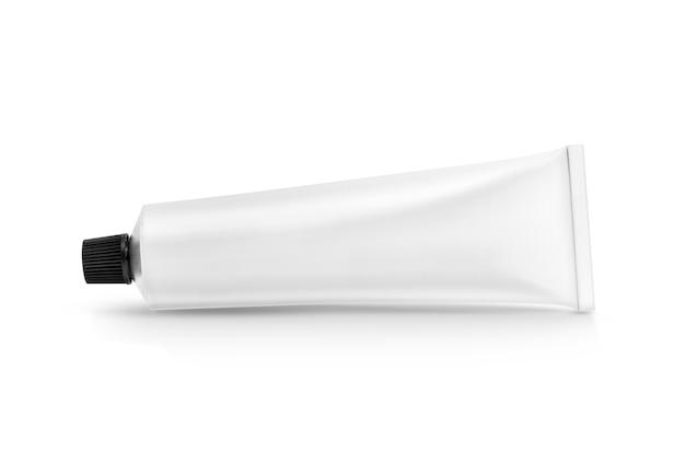 Witte aluminium tandpasta of crème tube