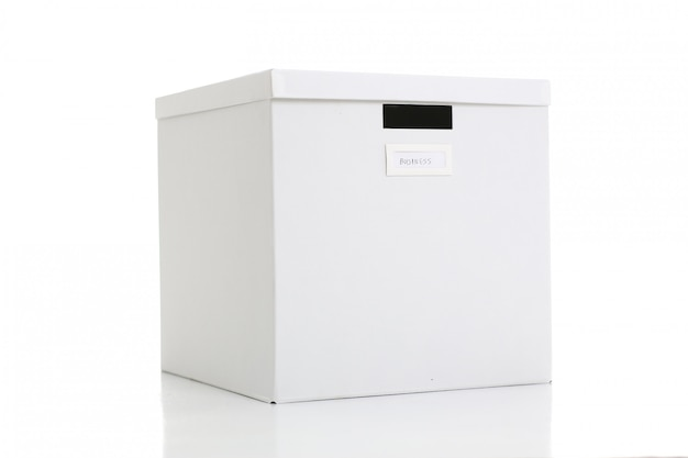 Witte ambachtelijke doos