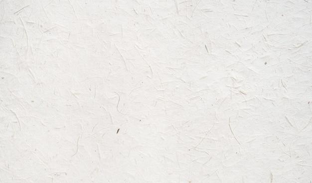 Witte ambachtelijke papier textuur achtergrond van gemaakte natuurlijke bladeren.