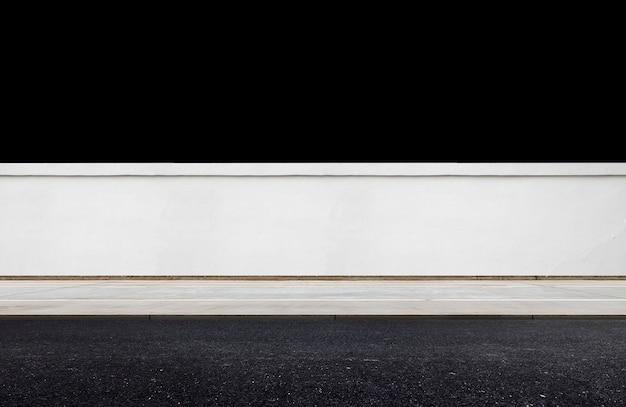 Witte bakstenen muur achtergrond. geïsoleerde afbeelding