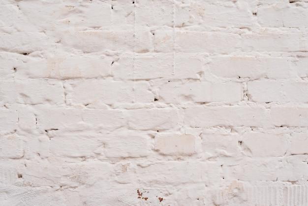 Witte bakstenen muur achtergrond. witte bakstenen binnengevelmuur.