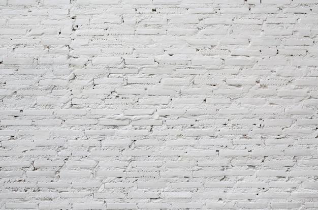 Witte bakstenen muur textuur achtergrond.