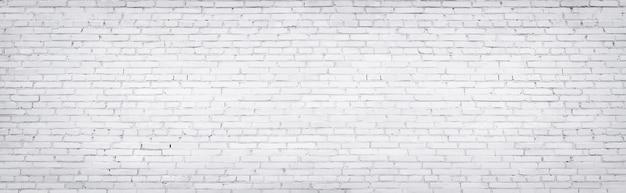 Witte bakstenen muur, textuur van gewit metselwerk als achtergrond